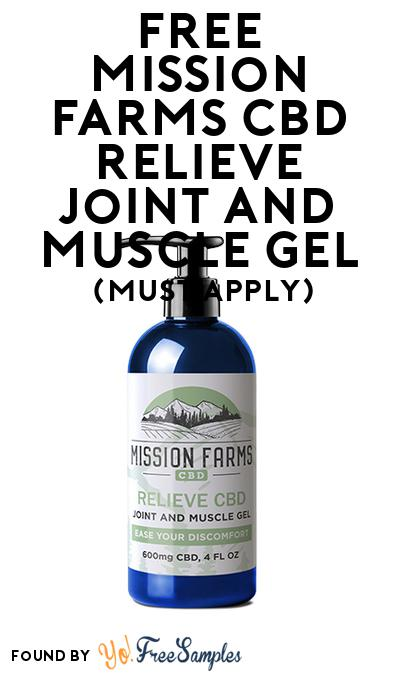 FREE Mission Farms CBD Relieve Joint and Muscle Gel (Mom Ambassador Membership Required)