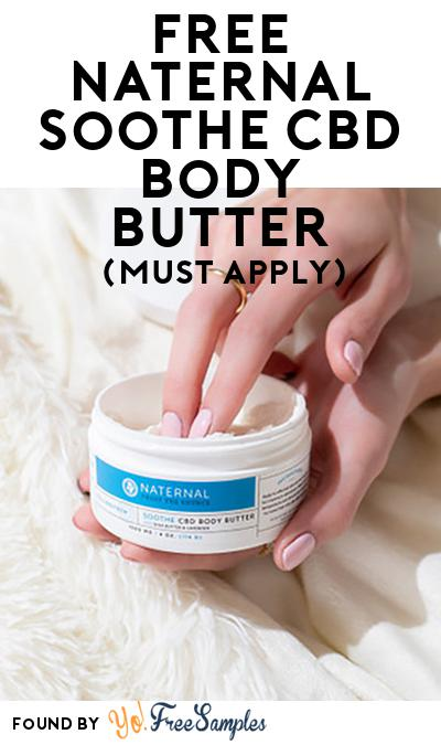 FREE Naternal Soothe CBD Body Butter (Mom Ambassador Membership Required)