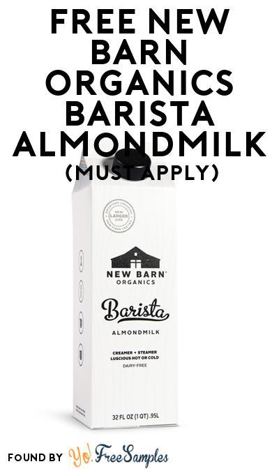 FREE New Barn Organics Barista Almondmilk (Mom Ambassador Membership Required)
