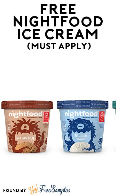 FREE Nightfood Ice Cream (Mom Ambassador Membership Required)