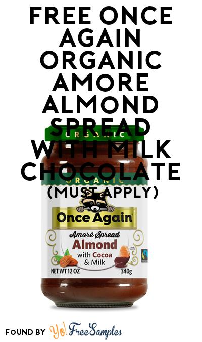 FREE Once Again Organic Amore Almond Spread with Milk Chocolate (Mom Ambassador Membership Required)