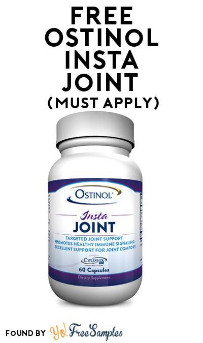FREE Ostinol Insta Joint (Mom Ambassador Membership Required)
