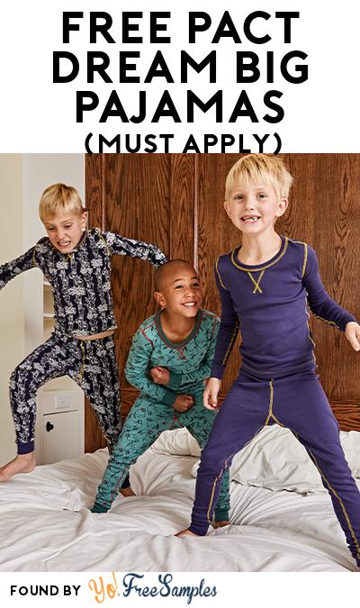 FREE Pact Dream Big Pajamas (Mom Ambassador Membership Required)