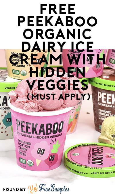 FREE Peekaboo Organic Dairy Ice Cream with Hidden Veggies (Mom Ambassador Membership Required)