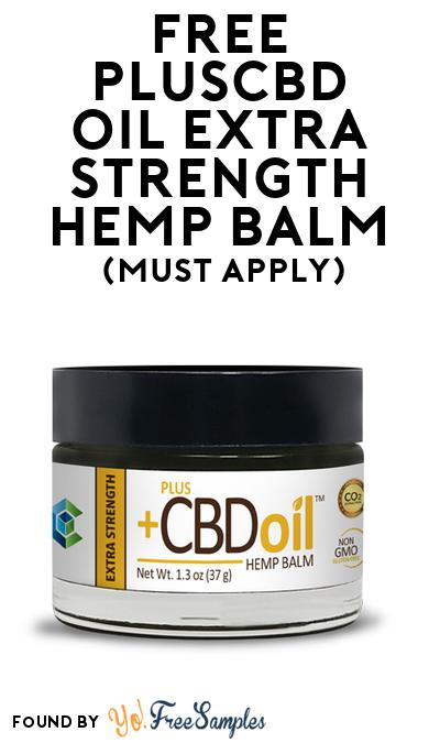 FREE PlusCBD Oil Extra Strength Hemp Balm (Mom Ambassador Membership Required)