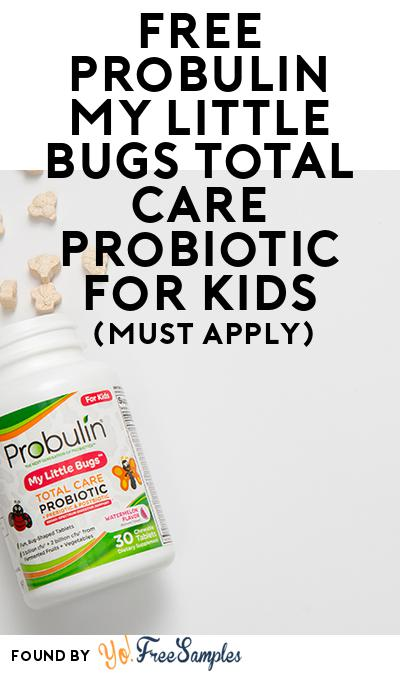 FREE Probulin My Little Bugs Total Care Probiotic For Kids (Mom Ambassador Membership Required)