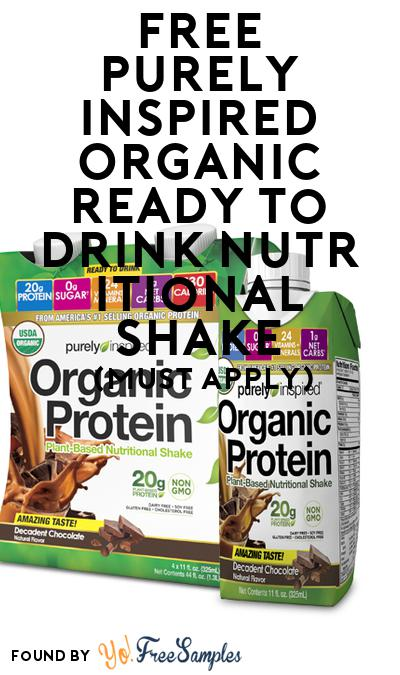 FREE Purely Inspired Organic Ready to Drink Nutritional Shake (Mom Ambassador Membership Required)