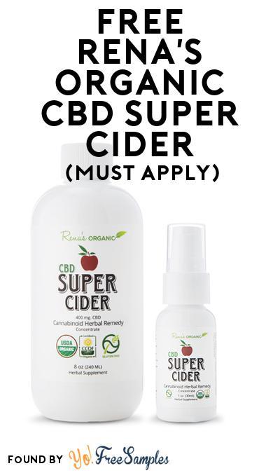 FREE Rena's Organic CBD Super Cider (Mom Ambassador Membership Required)