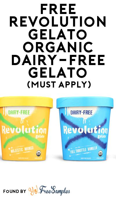 FREE Revolution Gelato Organic Dairy-Free Gelato (Mom Ambassador Membership Required)