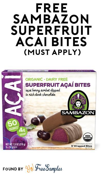 FREE Sambazon Superfruit Acai Bites (Mom Ambassador Membership Required)