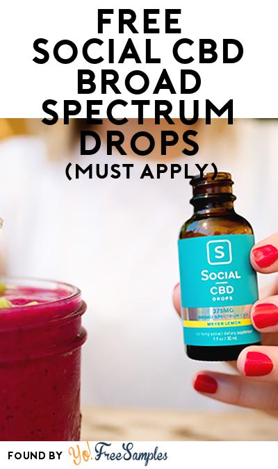 FREE Social CBD Broad Spectrum Drops (Mom Ambassador Membership Required)