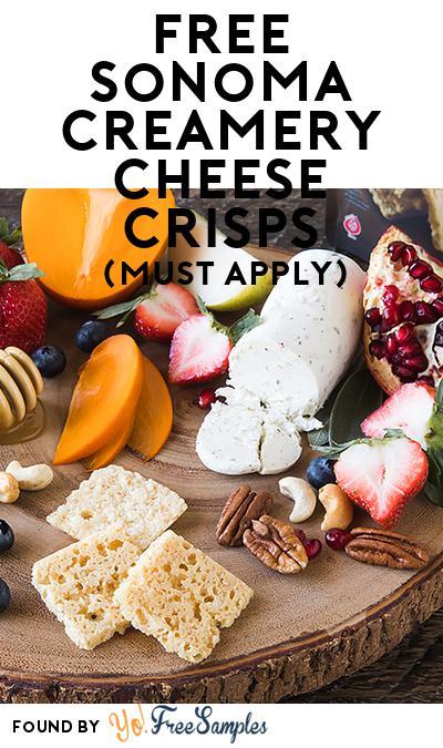 FREE Sonoma Creamery Cheese Crisps (Mom Ambassador Membership Required)