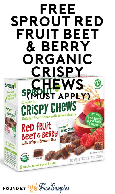 FREE Sprout Red Fruit Beet & Berry Organic Crispy Chews (Mom Ambassador Membership Required)