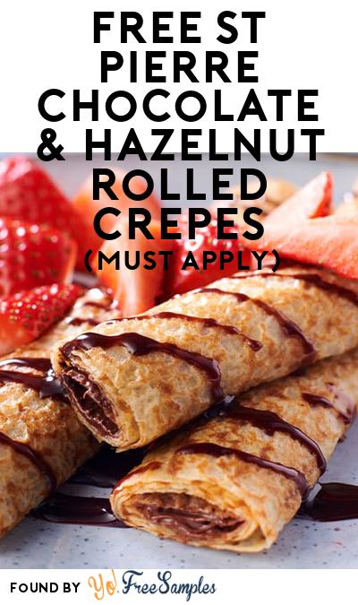 FREE St Pierre Chocolate & Hazelnut Rolled Crepes (Mom Ambassador Membership Required)