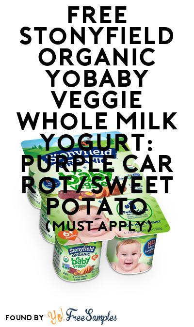 FREE Stonyfield Organic YoBaby Veggie Whole Milk Yogurt: Purple Carrot/Sweet Potato (Mom Ambassador Membership Required)