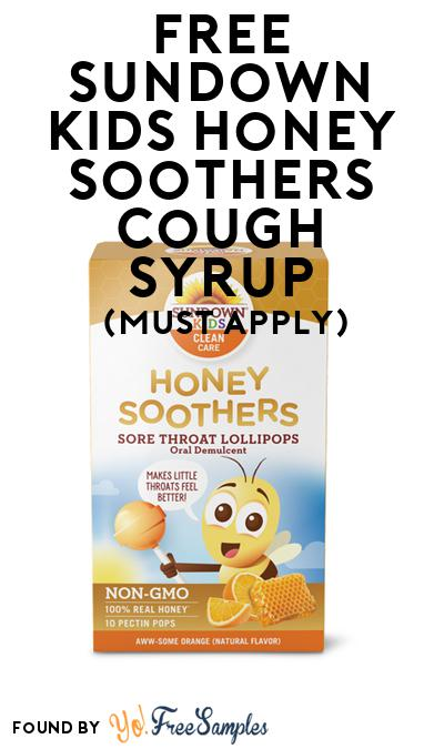FREE Sundown Kids Honey Soothers Cough Syrup (Mom Ambassador Membership Required)
