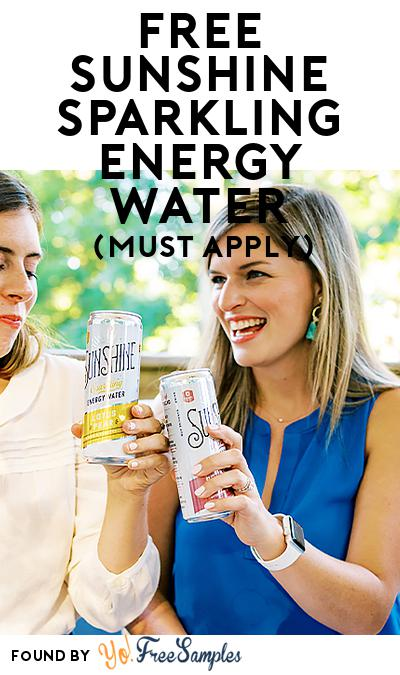 FREE Sunshine Sparkling Energy Water (Mom Ambassador Membership Required)