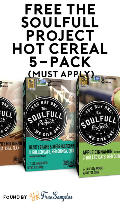 FREE The Soulfull Project Hot Cereal 5-Pack (Mom Ambassador Membership Required)
