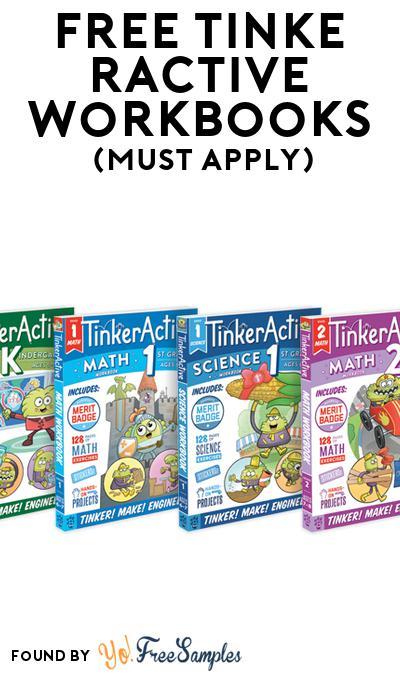 FREE TinkerActive Workbooks (Mom Ambassador Membership Required)