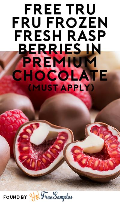 FREE Tru Fru Frozen Fresh Raspberries in Premium Chocolate (Mom Ambassador Membership Required)
