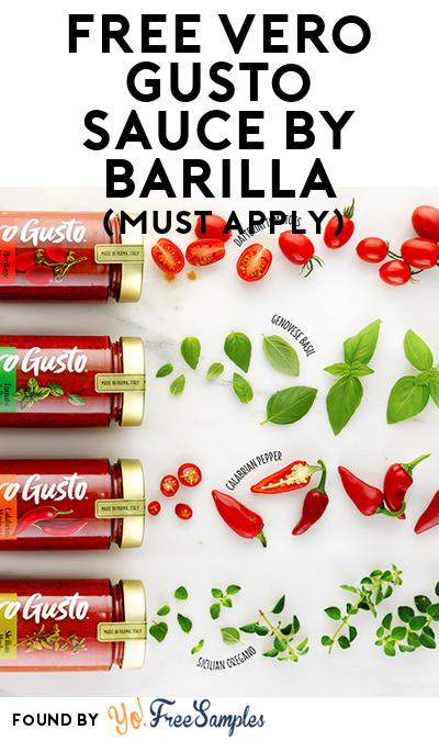 FREE Vero Gusto sauce by Barilla (Mom Ambassador Membership Required)