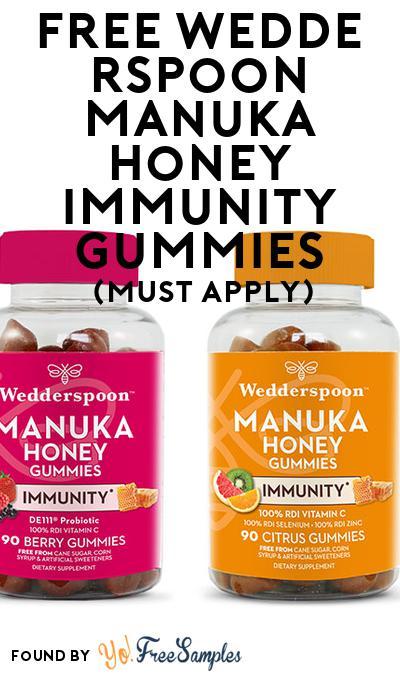 FREE Wedderspoon Manuka Honey Immunity Gummies (Mom Ambassador Membership Required)