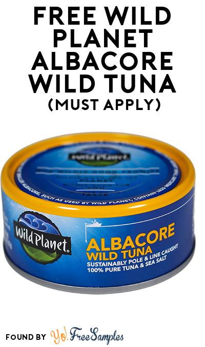 FREE Wild Planet Albacore Wild Tuna (Mom Ambassador Membership Required)