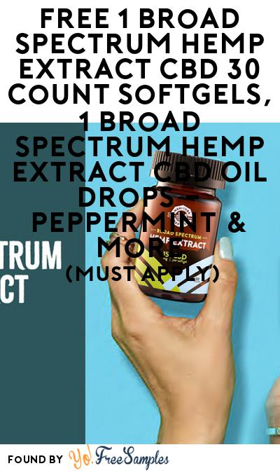 FREE Broad Spectrum Hemp Extract Sampler Box & More (21+ Only, Select States, Must Apply)