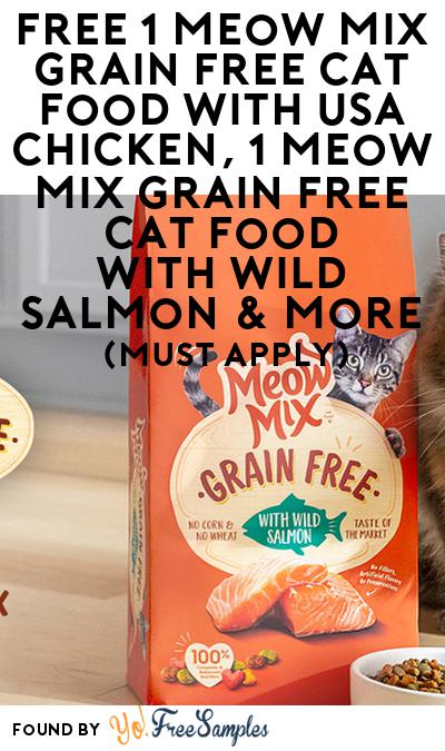 FREE Meow Mix Grain Free Cat Food & More (Must Apply)