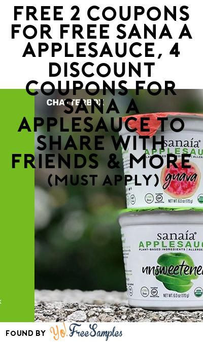 FREE Sanaía Applesauce & More (Select States, Must Apply)