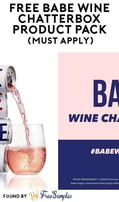 FREE Babe Wine Chatterbox Product Pack (21+ Only, Select States, Must Apply)