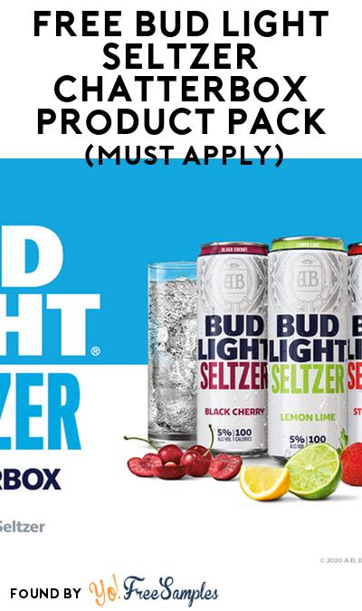 FREE Bud Light Seltzer Chatterbox Product Pack (21+ Only, Select States, Must Apply)
