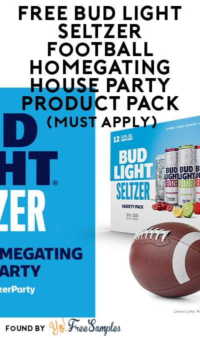 FREE Bud Light Seltzer Football Homegating House Party Product Pack (21+ Only, Select States, Must Apply)