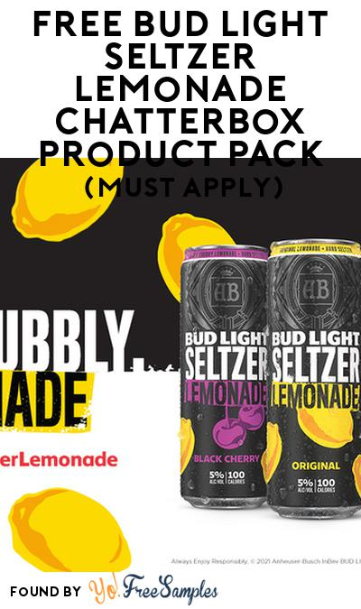 FREE Bud Light Seltzer Lemonade Chatterbox Product Pack (21+ Only, Select States, Must Apply)