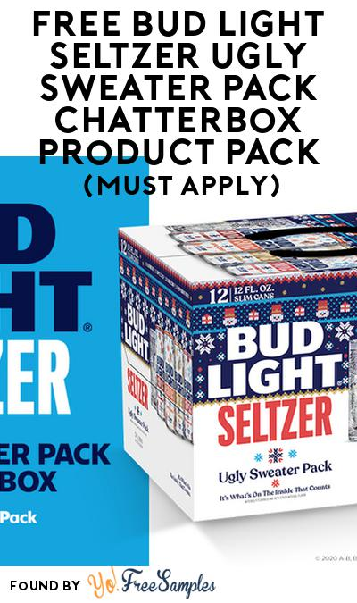 FREE Bud Light Seltzer Ugly Sweater Pack Chatterbox Product Pack (21+ Only, Select States, Must Apply)