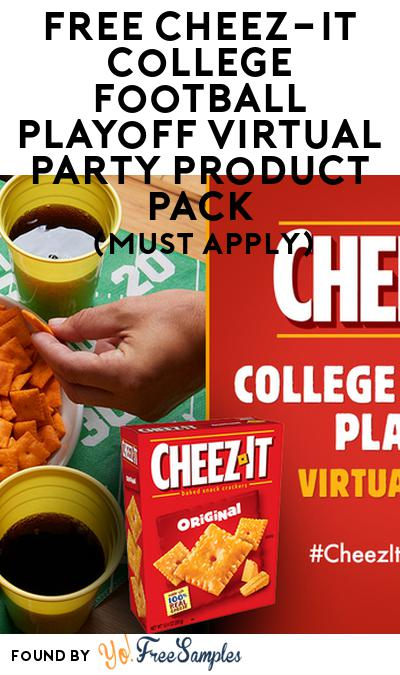 FREE Cheez-It College Football Playoff Virtual Party Product Pack (Must Apply)