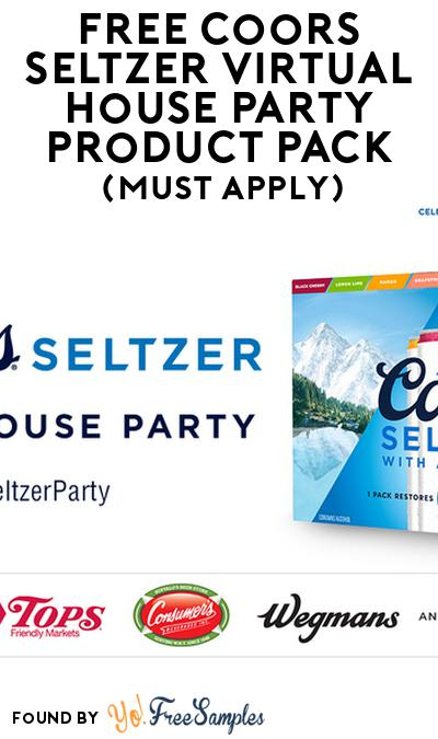 FREE Coors Seltzer Virtual House Party Product Pack (21+ Only, Select States, Must Apply)