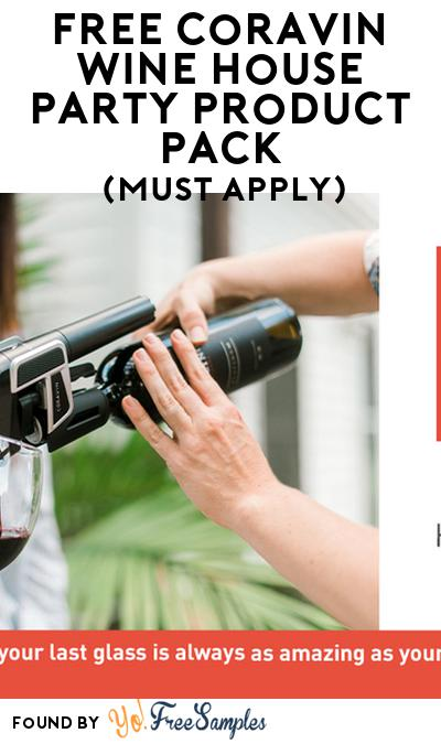 FREE Coravin Wine House Party Product Pack (21+ Only, Select States, Must Apply)