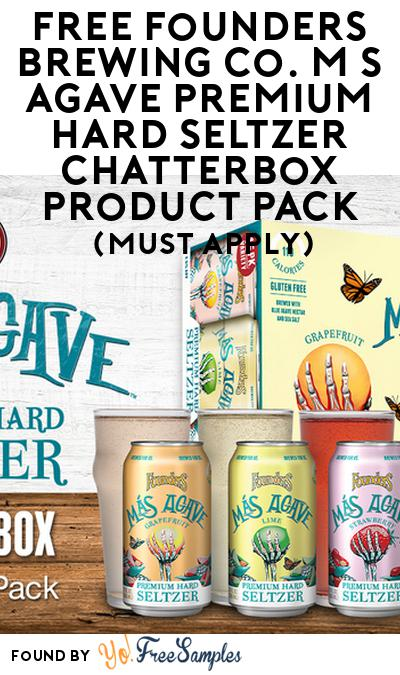 FREE Founders Brewing Co. Más Agave Premium Hard Seltzer Chatterbox Product Pack (21+ Only, Select States, Must Apply)
