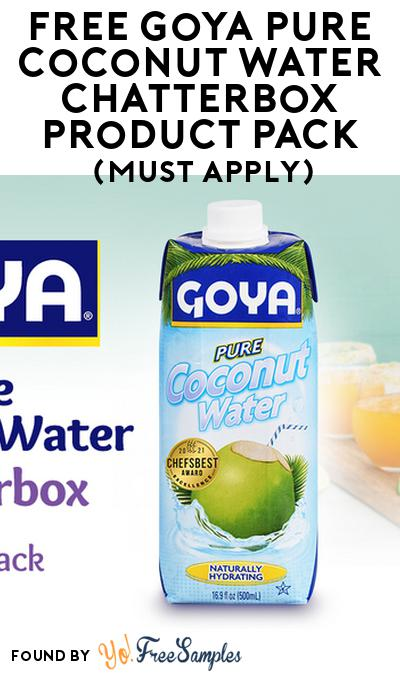 FREE Goya Pure Coconut Water Chatterbox Product Pack (Select States, Must Apply)