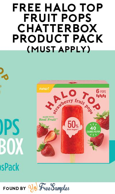 FREE Halo Top Fruit Pops Chatterbox Product Pack (Must Apply)