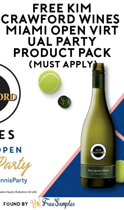 FREE Kim Crawford Wines Miami Open Virtual Party Product Pack (21+ Only, Select States, Must Apply)