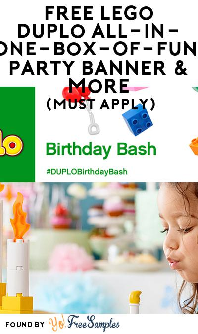 FREE Lego Duplo October All-In-One-Box-Of-Fun, Party Banner & More (Must Apply)