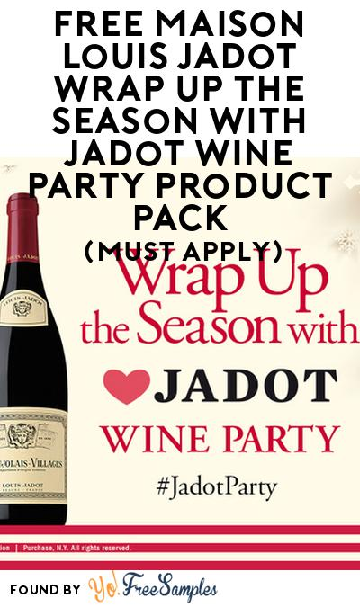 FREE Maison Louis Jadot Wrap Up the Season with Jadot Wine Party Product Pack (21+ Only, Select States, Must Apply)