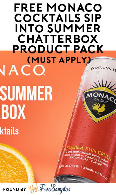 FREE Monaco Cocktails Sip Into Summer Chatterbox Product Pack (21+ Only, Select States, Must Apply)