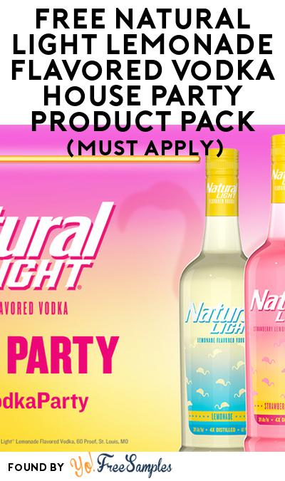 FREE Natural Light Lemonade FlavoredVodka House Party Product Pack (21+ Only, Select States, Must Apply)