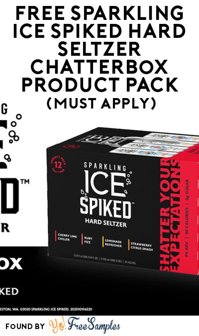 FREE Sparkling Ice Spiked Hard Seltzer Chatterbox Product Pack (21+ Only, Select States, Must Apply)
