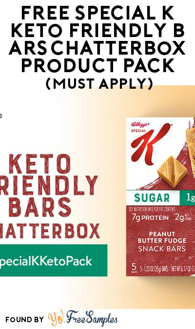 FREE Special K Keto Friendly Bars Chatterbox​ Product Pack (Must Apply)