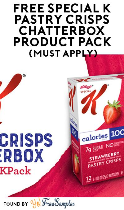 FREE Special K Pastry Crisps Chatterbox Product Pack (Must Apply)