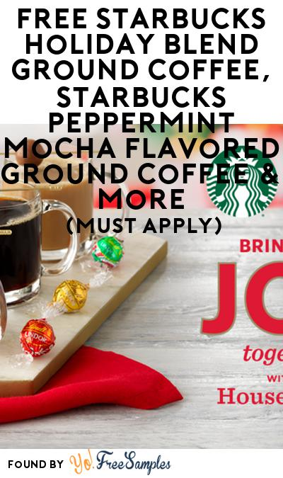 FREE Starbucks Holiday Blend Ground Coffee, Lindt LINDOR Milk Chocolate Truffles & More (Must Apply)